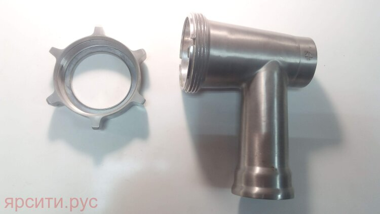 Шнек Корпус шнека с гайкой для Rolsen Мясорубка Mg-2055Mr Б/у арт. 10389